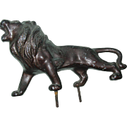 Roaring Lion Hood Ornament Pot Metal for Car Truck Automobile Bronze