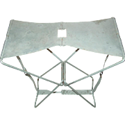 Godaco Products Folding Camp Stool WWII Era Camping Chair Steel Detroit Michigan