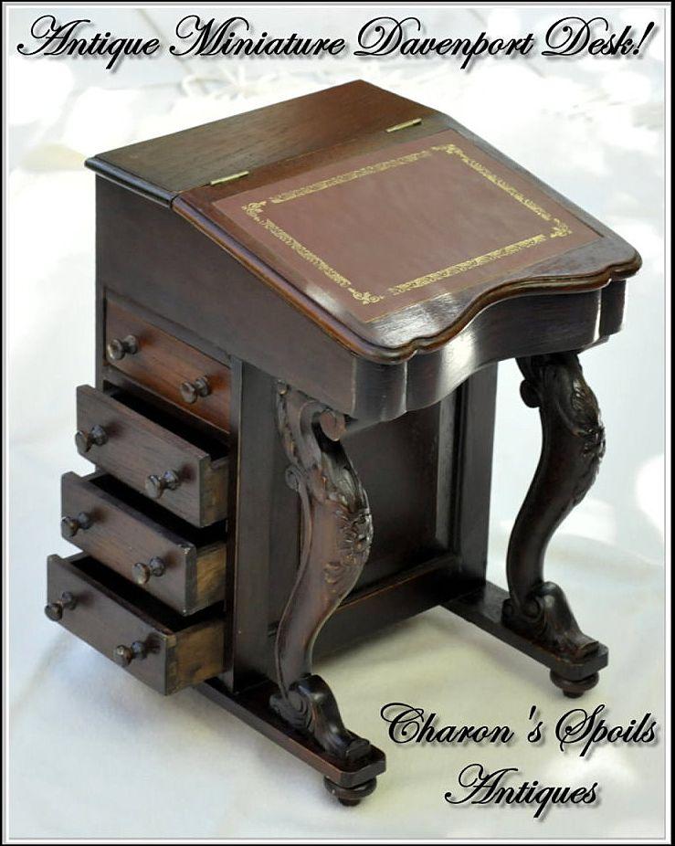Antique Miniature Davenport or Captain's Desk