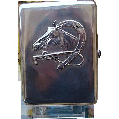 Antique Russian silver cigarette case