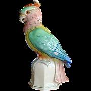 Vintage German Porcelain Parrot Table Lamp
