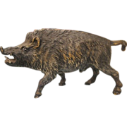 Vienna Bronze figure modelled as a wild boar, early 20th century