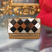 Italian Agate and Pietra Dura snuff box ,19th century