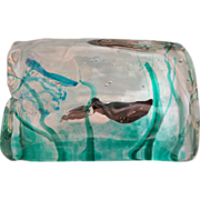 Rare  Murano  Glass aquarium by Cenedese, dated at about 1950