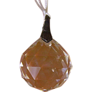 Vintage Crystal Clear Faceted Drop Pendant