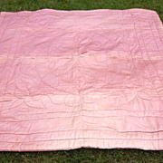 1930s Hollywood Glamour Era Quilted Satin Comforter