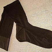 Pair of Vintage Dark Brown Kayser Seamed Nylon Hosiery Size 10