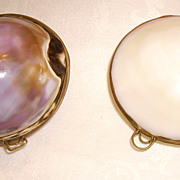 Two Old Shell Coin Purses or Trinket Boxes