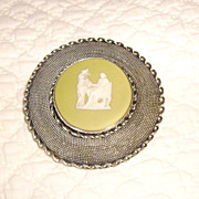 Lillian Pines New York Sterling Wedgwood Brooch
