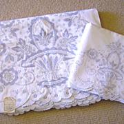 NOS Madeira Embroidered Sheet Set w/ Top Sheet & Cases