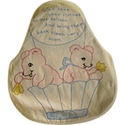 Cute Vintage Embroidered Child's Laundry Bag
