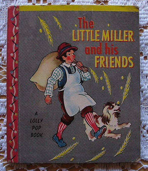 """Miniature Lolly Pop Book """"The Little Miller and His Friends"""""""