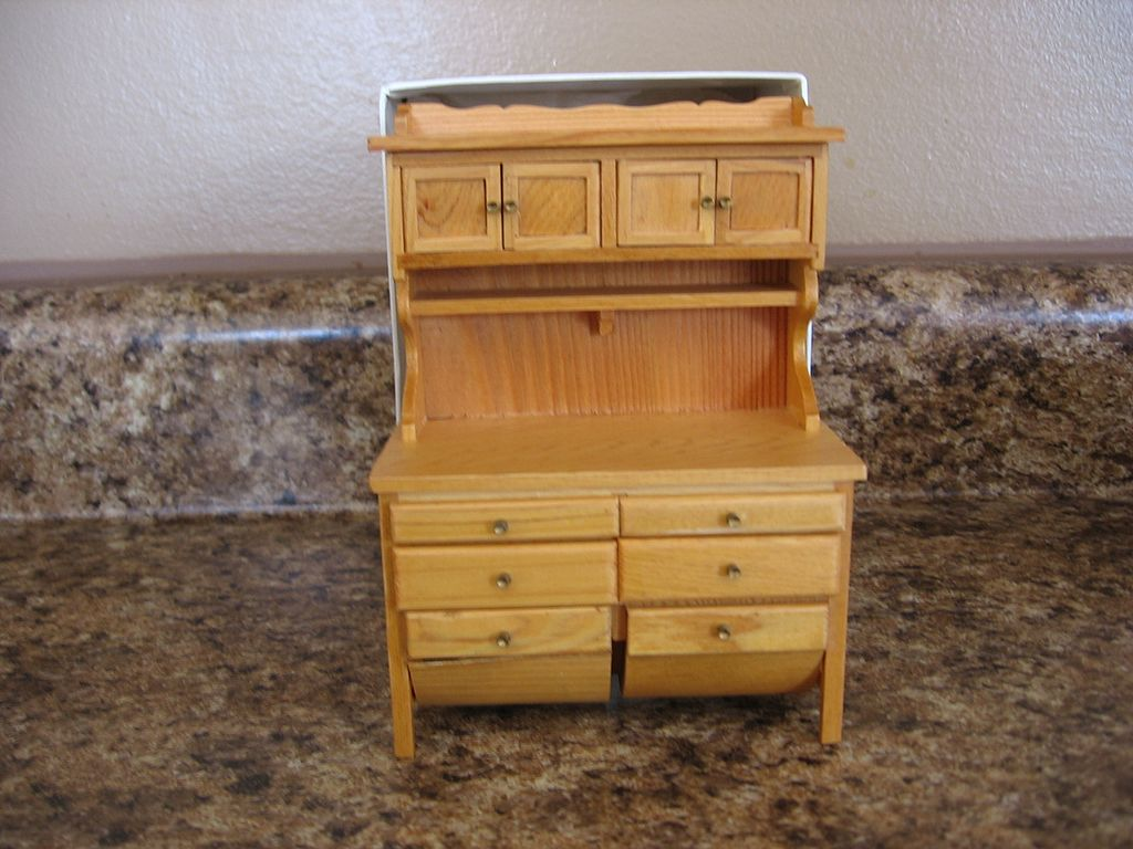 Concord Museum Wood Miniature Floor Bin Hutch