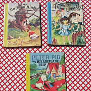 "SALE Rare 1940's First Editions Color Classics McLoughlin Bros Set with ""Peter Pig and Hi"