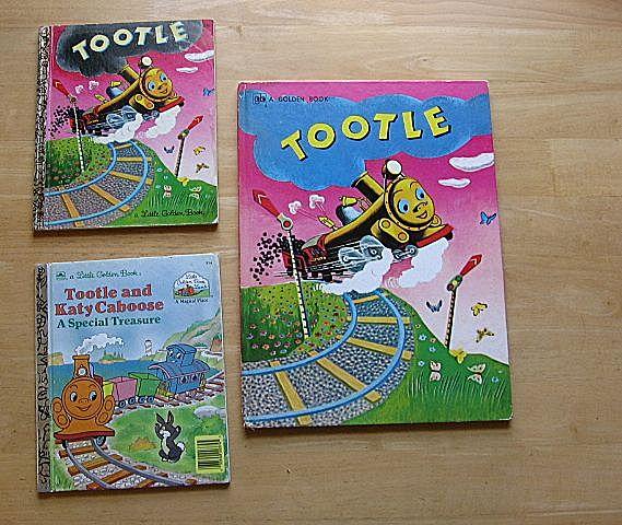 "Golden Book ""Tootle"" Children Book Set"