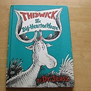 Vintage Dr. Suess Thidwick The Big-Hearted Moose Book Club Edition