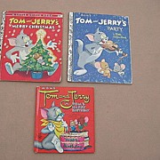 "Vintage ""Tom and Jerry"" Children Book Set Of Three"