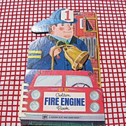 1969 Golden Play and Learn Fire Engine Book