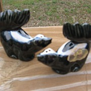 Rosemeade Dakota Pottery Skunk Shakers