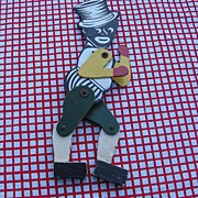 SALE Black Americana Jointed Painted Dancing Wood Black Man