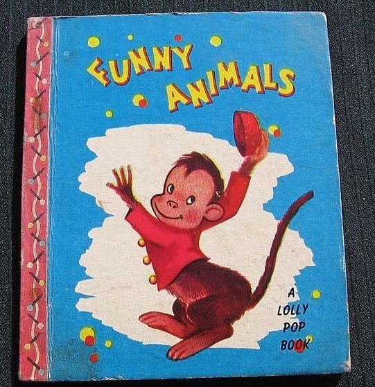 """1949 """"Funny Animals"""" Lolly Pop Mini Books"""