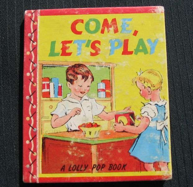 "Hard to Find 1943 ""Come Let's Play"" Mini Lolly Pop Book"