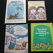 Children 1970's Weekly Reader Picture Book Set Of Four