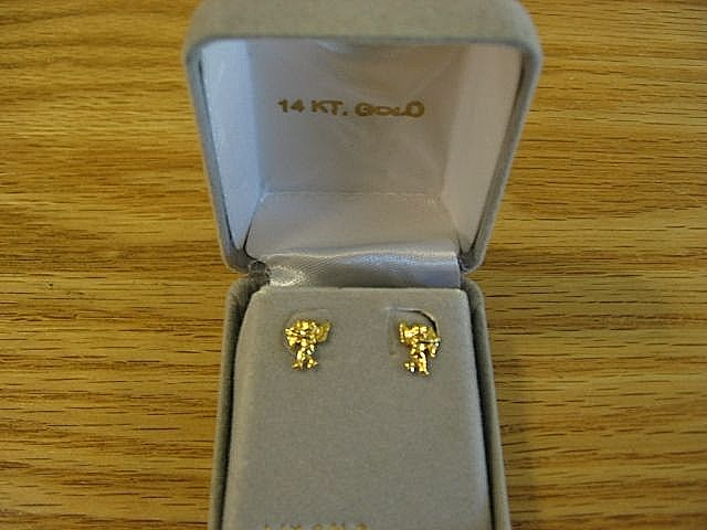 14 Kt. Gold Cupid Pierce Earrings