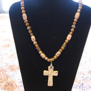 Quality Beaded Cross Necklace