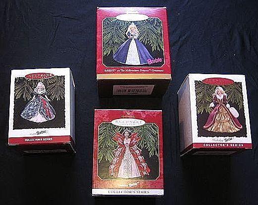 Hallmark Keepsake Barbie Set Of Four Ornaments