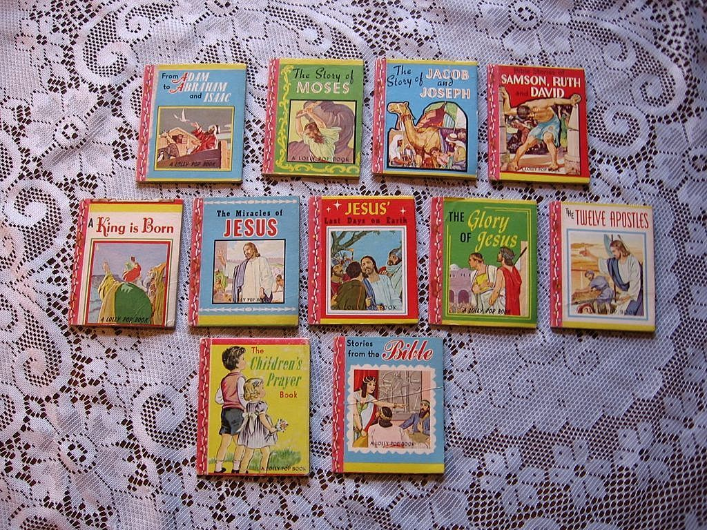 1949 Miniature Religious Lolly Pop Book Set