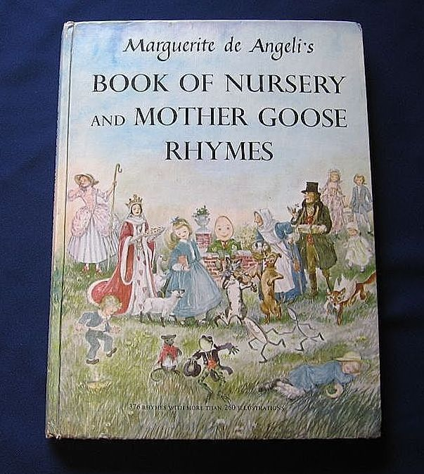 """1954 First Edition Marquerite De Angeli's """"Book Of Nursery and Mother Goose Rhymes"""""""