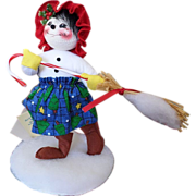 SALE Annalee Sweeping Snowflakes Doll