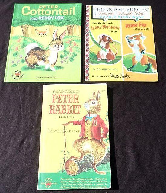 1950's Thornton Burgess Children Book Set