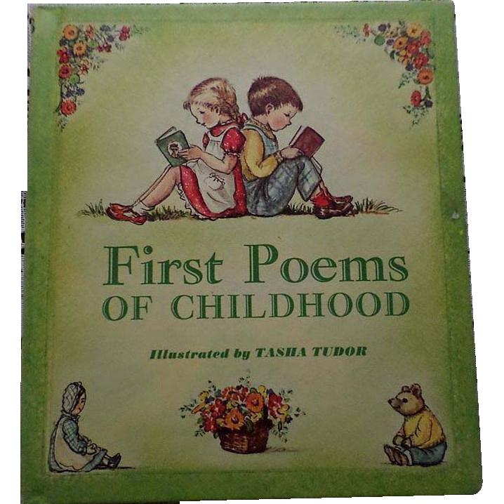 "1967 First Edition Tasha Tubor ""First Poems Of Childhood"""