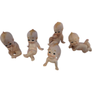 SALE Lefton Porcelain Kewpies Set of Five
