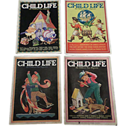 SALE 1930's March Child Life Magazine Set Of Four