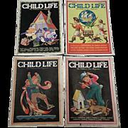 1930's March Child Life Magazine Set Of Four