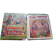 SALE 1938 Funny Farm Friends Linenette Book Set