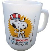 """Put Snoopy In The White House"" Fireking Glass Mug"