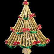 1960's Christmas Garland Tree Pin Book Piece
