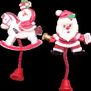 Fun Plastic Pull String Christmas Santa Pin Set