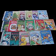 Christmas Little Golden Book Set of Seventeen Books