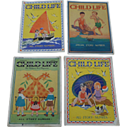 1930's August Child Life Set of Four