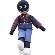 Handmade Black Americana Man Doll