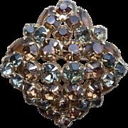 Julianna Amber Rhinestone Pin