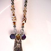 Urbanian chic bohemian tribal necklace OOAK