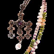 Vintage Yalalag cross necklace