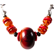 Anne Choi African copal Baltic amber necklace