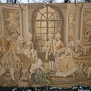 Vintage Chic French Tapestry Salon Scene